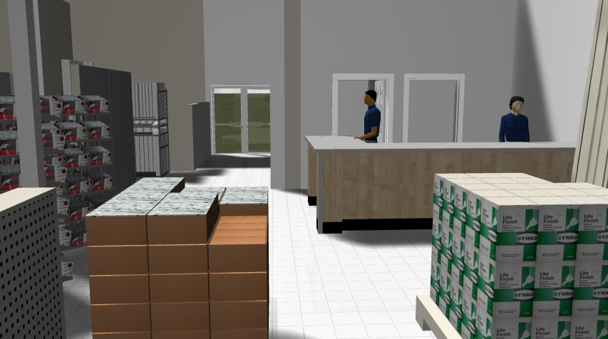 3D customer view of contract sales.