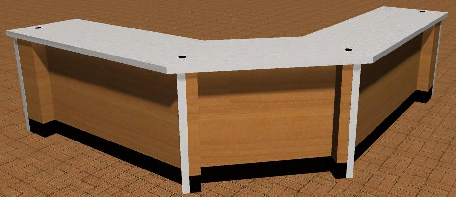 3-D large style corner counter.